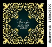 decorative floral pattern. gold ... | Shutterstock .eps vector #1150608800