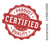 certified product quality label ... | Shutterstock .eps vector #1150614500