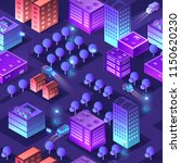 isometric violet purple... | Shutterstock .eps vector #1150620230