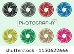 camera aperture set   gradient... | Shutterstock .eps vector #1150622666