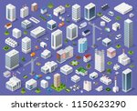 set of urban 3d buildings of... | Shutterstock .eps vector #1150623290