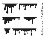 paint dripping. current drops.... | Shutterstock .eps vector #1150629656