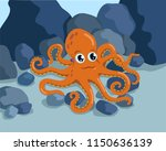 octopus on the seabed | Shutterstock .eps vector #1150636139