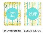 bridal shower card with dots... | Shutterstock .eps vector #1150642703