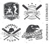 set of baseball or softball... | Shutterstock .eps vector #1150648613