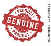 genuine product label stamp | Shutterstock .eps vector #1150648616