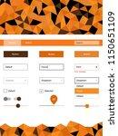 dark orange vector web ui kit...