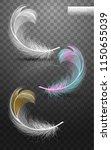 isolated falling fluffy twirled ...   Shutterstock .eps vector #1150655039