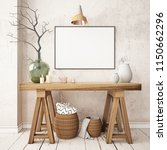 mockup poster in the... | Shutterstock . vector #1150662296