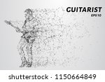 rock guitarist plays at the... | Shutterstock .eps vector #1150664849