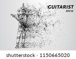 guitarist applauds the audience.... | Shutterstock .eps vector #1150665020