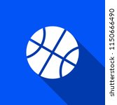 basketball icon with shadow  ... | Shutterstock .eps vector #1150666490