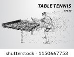 table tennis game. sports... | Shutterstock .eps vector #1150667753
