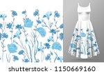 seamless rim. border with herbs ...   Shutterstock .eps vector #1150669160