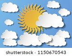 illustration of cloudy sky in...   Shutterstock .eps vector #1150670543