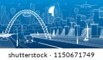 city infrastructure industrial... | Shutterstock .eps vector #1150671749