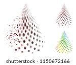 vector dotted abstract cone... | Shutterstock .eps vector #1150672166