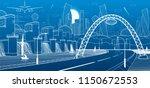 city infrastructure industrial...   Shutterstock .eps vector #1150672553