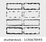 set of rectangle grunge frames. ... | Shutterstock .eps vector #1150678493