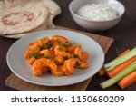 buffalo shrimp with gorgonzola... | Shutterstock . vector #1150680209