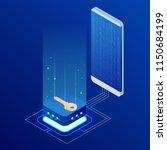 isometric internet security... | Shutterstock .eps vector #1150684199