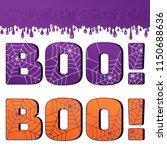 boo sign flat vector cartoon...   Shutterstock .eps vector #1150688636