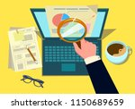 audit research on computer... | Shutterstock .eps vector #1150689659