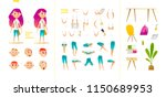 young school girl character for ... | Shutterstock .eps vector #1150689953