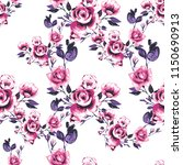 seamless pattern with roses.... | Shutterstock .eps vector #1150690913