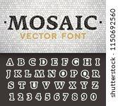 vector mosaic floor style font. ... | Shutterstock .eps vector #1150692560