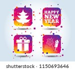 happy new year icon. christmas... | Shutterstock .eps vector #1150693646