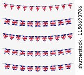 british bunting set with uk... | Shutterstock .eps vector #1150693706
