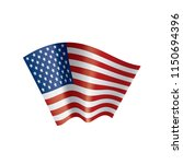 usa flag isolated | Shutterstock .eps vector #1150694396