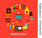 barbecue party postcard. poster ... | Shutterstock .eps vector #1150696856