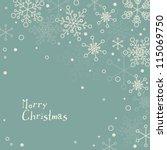 retro simple christmas card... | Shutterstock .eps vector #115069750