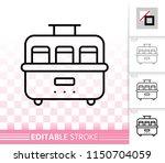 yogurt maker thin line icon.... | Shutterstock .eps vector #1150704059