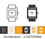 wristwatch black linear and...   Shutterstock .eps vector #1150704086