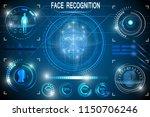 biometric identification or... | Shutterstock .eps vector #1150706246