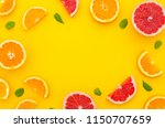 a frame made of juicy and fresh ... | Shutterstock . vector #1150707659