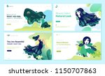 set of web page design... | Shutterstock .eps vector #1150707863