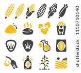 corn icon set   Shutterstock .eps vector #1150710140