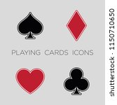 playing cards vector icons ... | Shutterstock .eps vector #1150710650