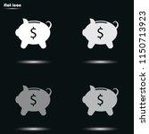 money box flat grayscale vector ... | Shutterstock .eps vector #1150713923