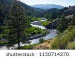 walker river is a winding...   Shutterstock . vector #1150714370