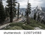 cloudy day for tourists driving ...   Shutterstock . vector #1150714583