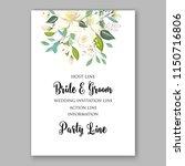jasmine wedding invitation... | Shutterstock .eps vector #1150716806