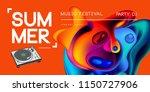 electronic music fest summer... | Shutterstock .eps vector #1150727906