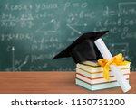 graduation mortarboard on of... | Shutterstock . vector #1150731200