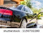 manual car wash. washing luxury ... | Shutterstock . vector #1150732280