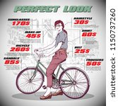 fashion infographic with model... | Shutterstock .eps vector #1150737260